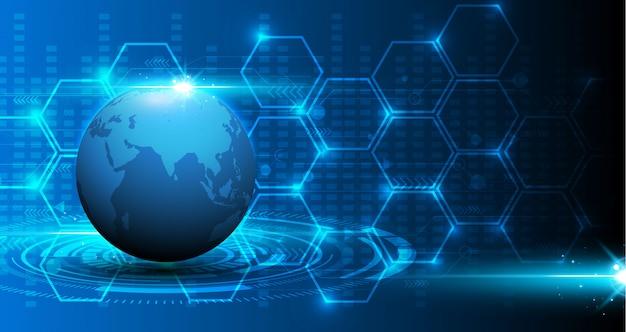 Abstracte van de de patroontechnologie van de wereldkaart digitale textuur achtergrond van het de innovatieconcept