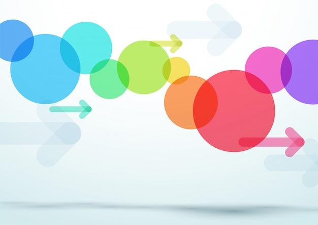 Abstracte vector kleurrijke cirkel pijl achtergrond