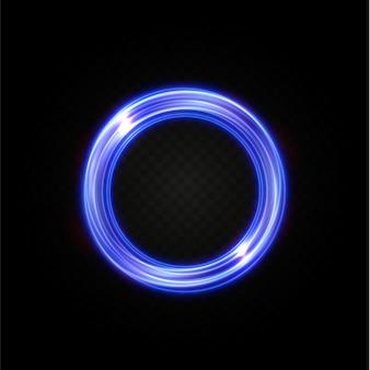 Abstracte vector lichte neonlijnen die in een spiraal wervelen
