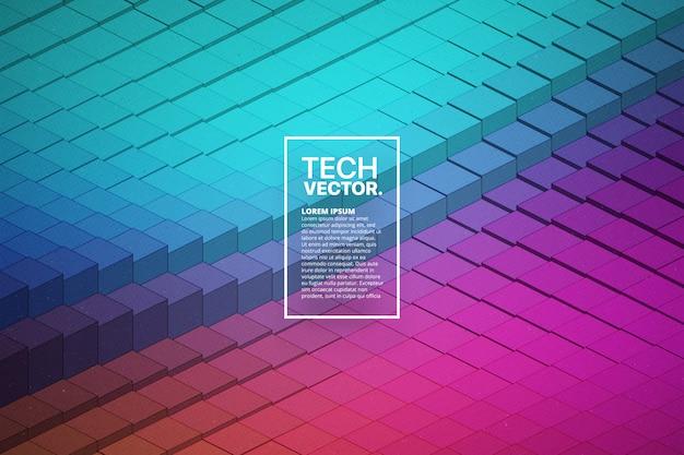 Abstracte vector technologische golfvorm kleurrijke heldere achtergrond.