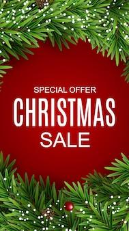 Abstracte vectorillustratie kerstmis verkoop, speciale aanbieding achtergrond. winter hete korting kaartsjabloon