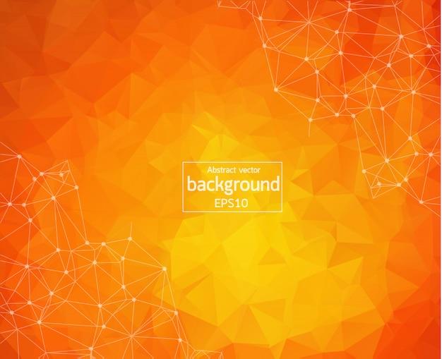 Abstracte veelhoekige oranje achtergrond