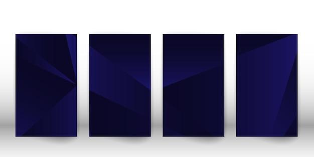 Abstracte veelhoekige patroon. donker omslagontwerp met geometrische vormen. veelhoek voorbladsjabloon. vector illustratie.