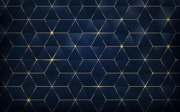 Abstracte veelhoekige patroon luxe achtergrond