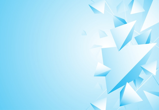 Abstracte veelhoekige patroon luxe blauwe achtergrond