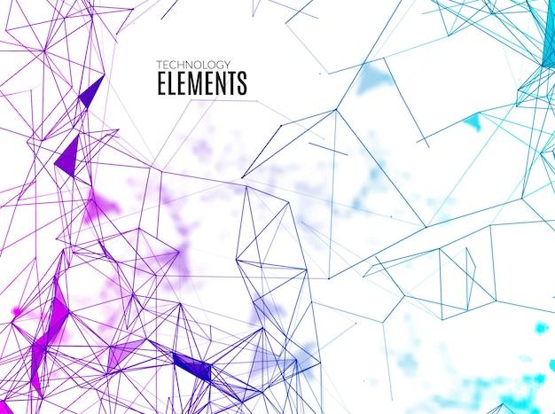 Abstracte veelhoekige techno achtergrond