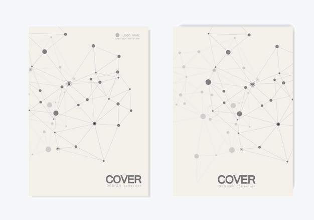 Abstracte veelhoekige verbinding. verbinding wetenschap.