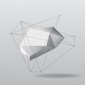 Abstracte veelhoekige vorm