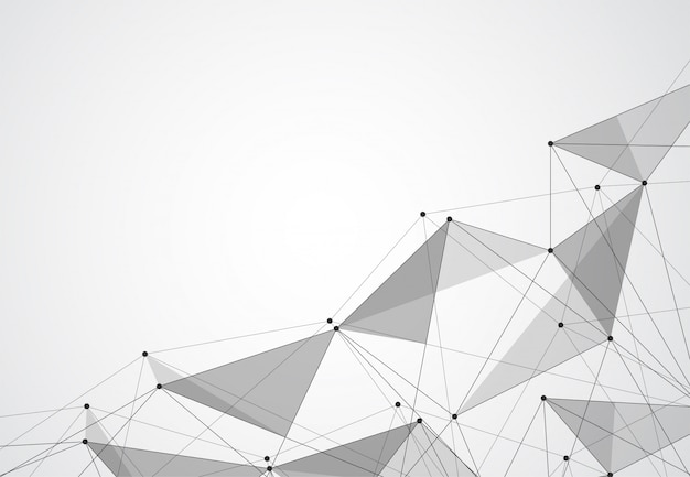 Abstracte verbindende punten en lijnen