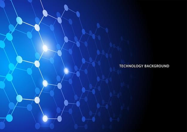 Abstracte verbonden lijnen en punten voor technologie digitale internetverbinding en blockchain-thema