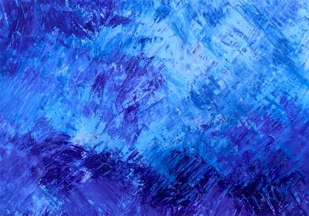 Abstracte verfborstel blauwe textuur Gratis Vector