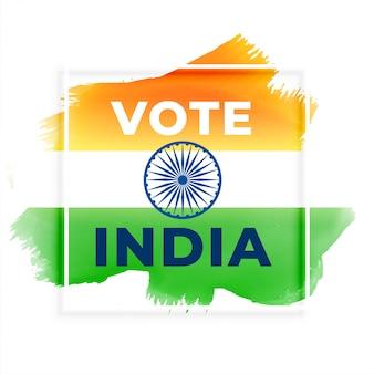 Abstracte verkiezing stem india achtergrond