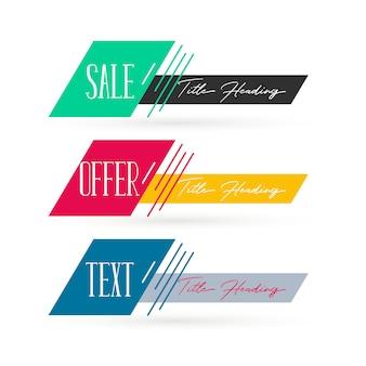 Abstracte verkoop banners decorontwerp
