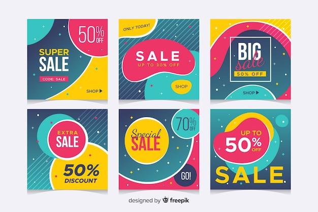 Abstracte verkoop instagram collectie
