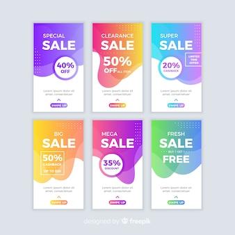 Abstracte verkoop instagram verhaalcollectie