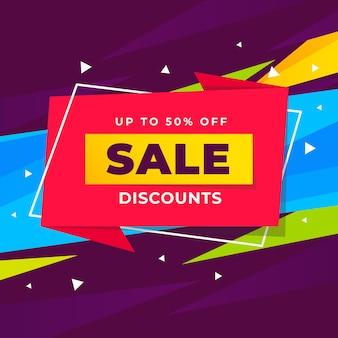 Abstracte verkoop kortingen promotie banner