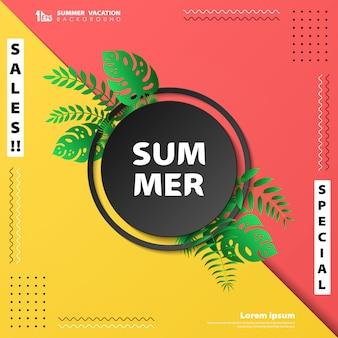 Abstracte verkoop zomervakantie banner