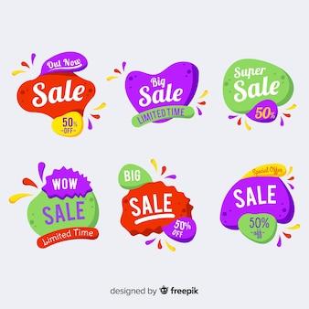 Abstracte verkoopsjabloon banner collectie