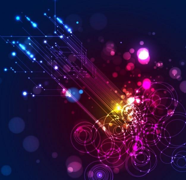 Abstracte verlichting vector achtergrond