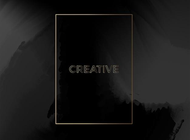Abstracte verloop mesh zachte zwarte gouden kleur mix trendy vector achtergrond