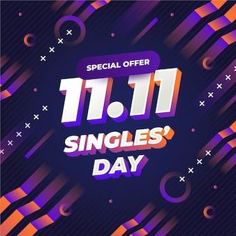 Abstracte verloop singles 'dag