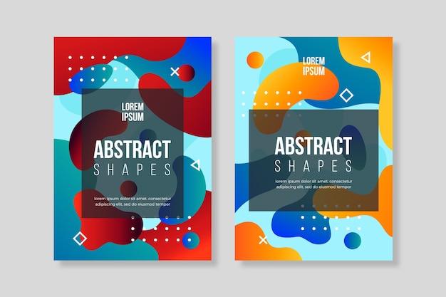 Abstracte verloop vormen dekking collectie concept