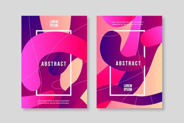 Abstracte verloop vormen dekking collectie