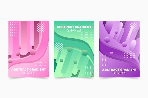 Abstracte verloop vormen dekking set