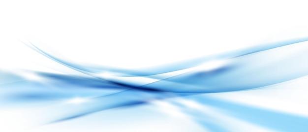 Abstracte verlopen blauwe golven