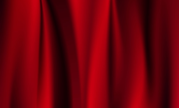 Abstracte verlopen, stof rode golven banner sjabloon achtergrond.