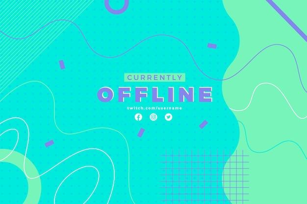 Abstracte verschillende lijnen twitch offline sjabloon voor spandoek