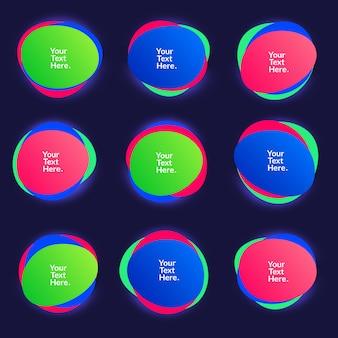 Abstracte vervaging vrije vorm vormen kleurverloop iriserende kleuren effect zachte overgang, afbeelding eps10