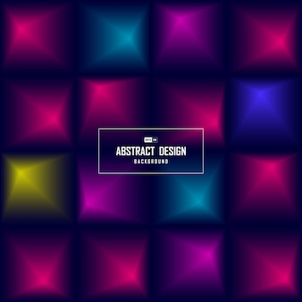 Abstracte vierkante kleurengradiënt van tech-de dekkingachtergrond van het ontwerppatroon.