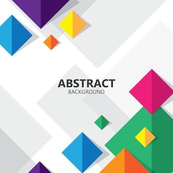 Abstracte vierkante kleurrijke geometrische achtergrond