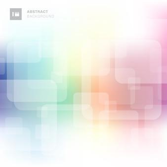 Abstracte vierkante overlappende kleurrijke achtergrond.