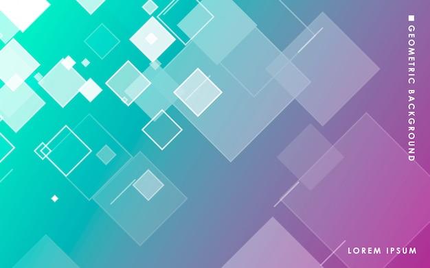 Abstracte vierkanten achtergrond met kleurovergang