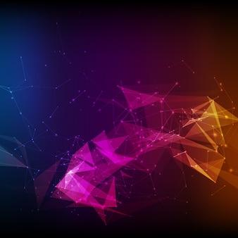 Abstracte violette netwerkachtergrond