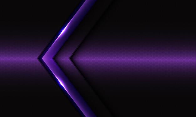 Abstracte violette pijl met zwart ontwerp