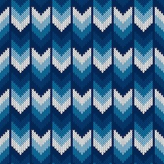 Abstracte visgraat gebreide trui patroon