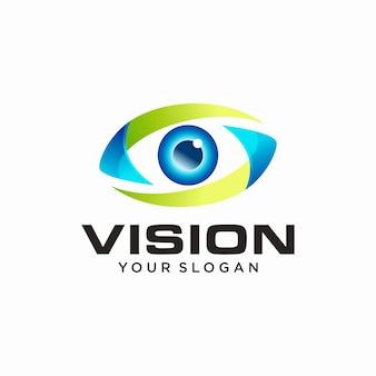 Abstracte visie logo