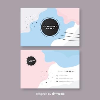 Abstracte visitekaartje ontwerpkaart