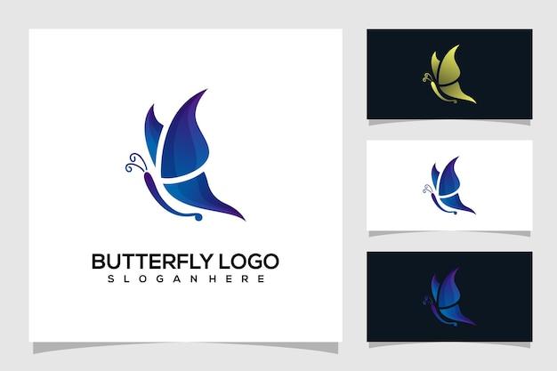 Abstracte vlinder logo illustratie