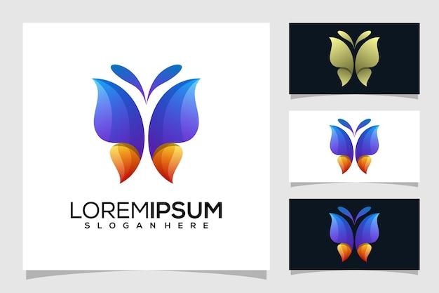 Abstracte vlinder logo