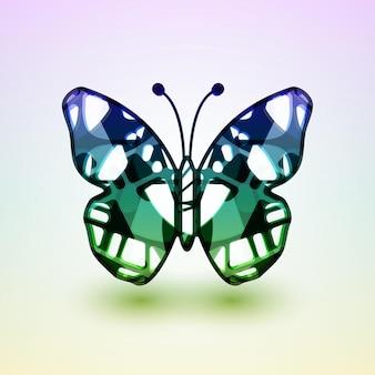 Abstracte vlinder.
