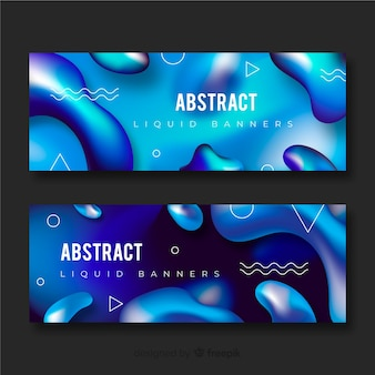 Abstracte vloeibare banners