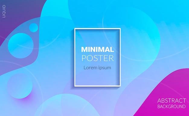 Abstracte vloeibare kleur. minimale poster.