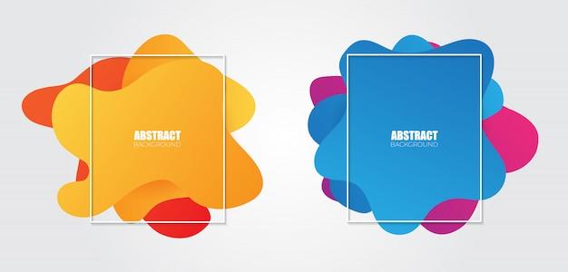Abstracte vloeibare kleurenbanners