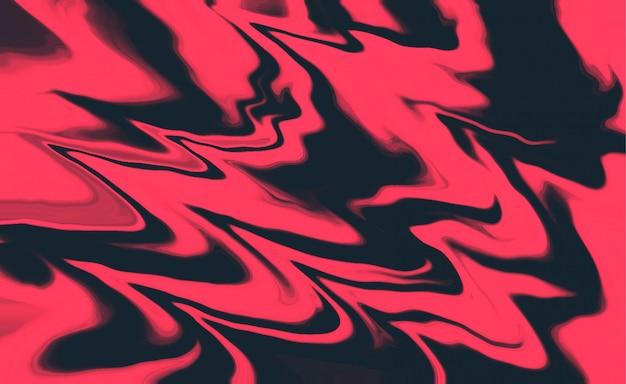 Abstracte vloeibare roze en zwarte vormenachtergrond