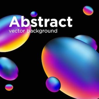Abstracte vloeibare vorm. vloeibaar ontwerp.