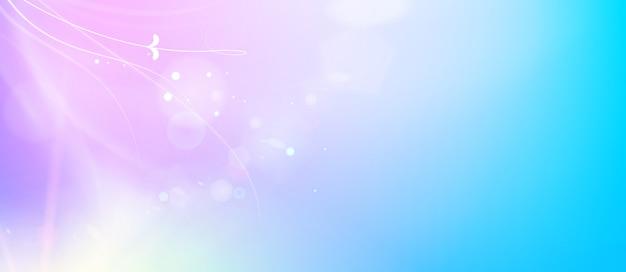 Abstracte vloeiende blauwe lijnen en glanzende paarse stroom van magie.